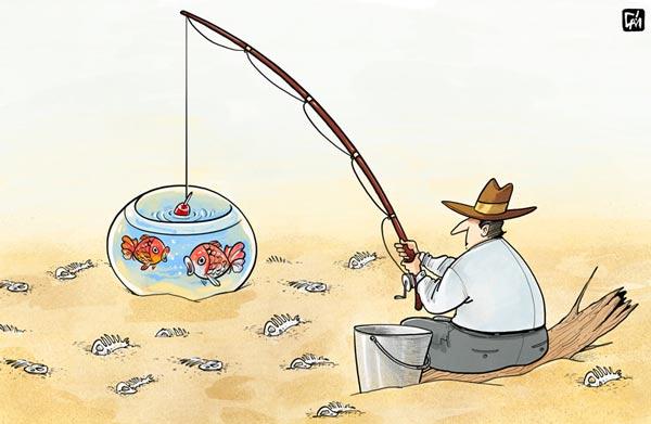 کمبود آب در خرمشهر