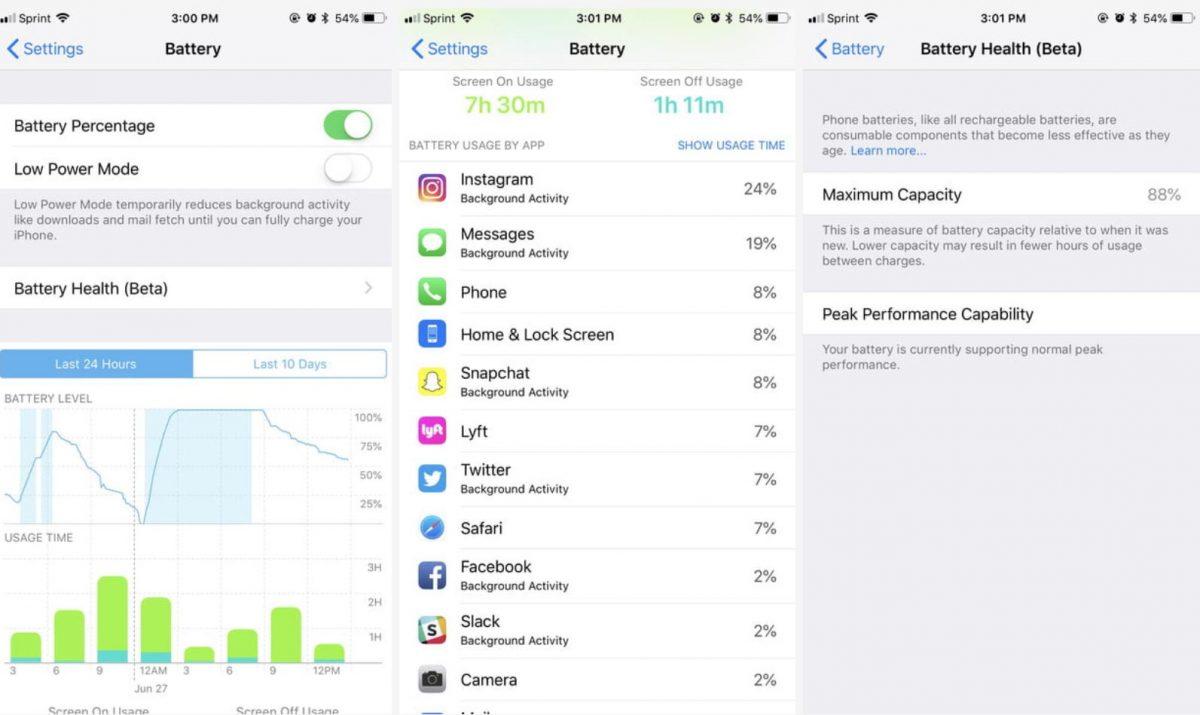 نظارت بر عملکرد باتری دستگاه در iOS 12
