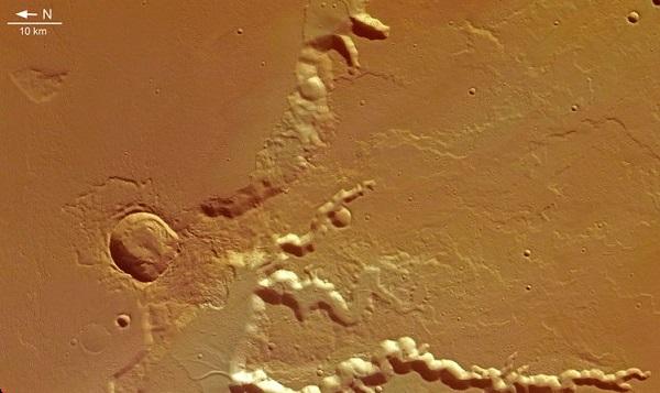 مدوزا فوسا در مریخ