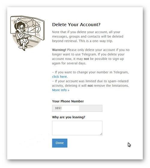 حذف اکانت موبوگرام