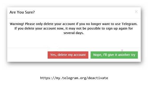 حذف تلگرام ایکس