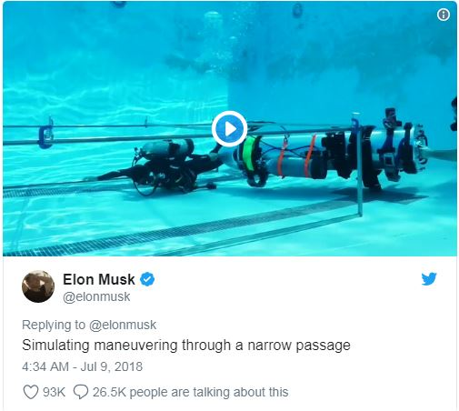 ویدئویی که ماسک از آزمایش زیردریایی کوچک خود را در شبکههای اجتماعی به اشتراک گذاشته است