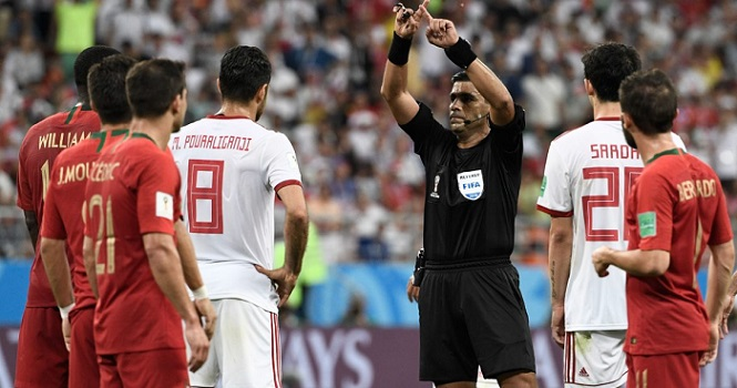 عملکرد کمک داور ویدیویی (VAR) در جام جهانی 2018