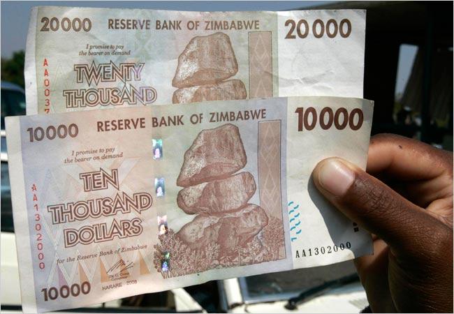 ابر تورم در زیمباوه