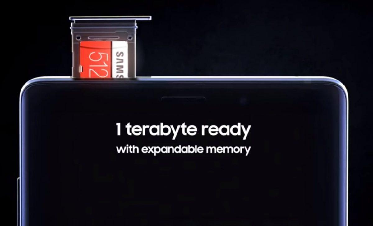 حافظه داخلی 512 گیگاباتی گلکسی نوت 9