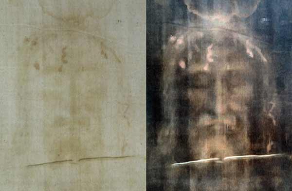 یک عکاس آماتور به نام سکوندو پیا، زمانی که این کفن در کلیسای جامع تورین بهنمایش گذاشته شد از آن عکس گرفت و بعدها با بررسی نگاتیوهای سیاه و سفید عکس، متوجه نقش چهرهای شبیه به مسیح روی آن شد