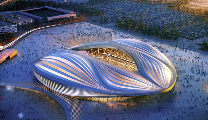 کانسپتی از استادیوم جام جهانی ۲۰۲۲ قطر، یکی از جنجالیترین طراحیها زاها حدید