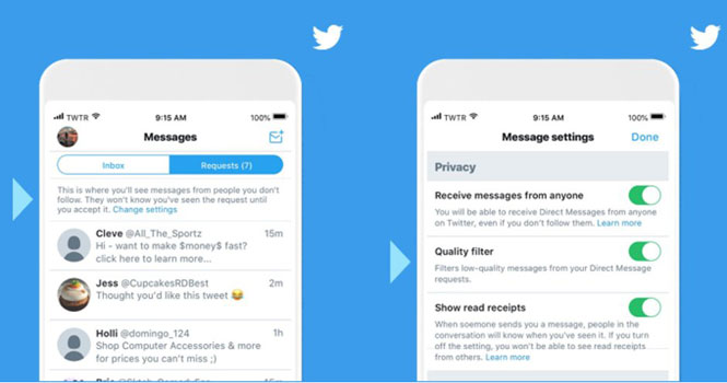 اولویت بندی پیام های دایرکت در توییتر؛ فیلتری برای دسته بندی پیام