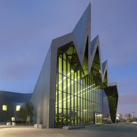 ۸. موزه ریورساید گلاسکو، اسکاتلند، انگلستان