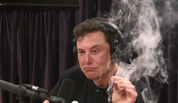 ماسک پس از خوردن نوشیدنی الکلی در طول مصاحبه، چند پُک به یک رول ماریجوانا زد، مسئلهای که جنجالبرانگیز نیز شد