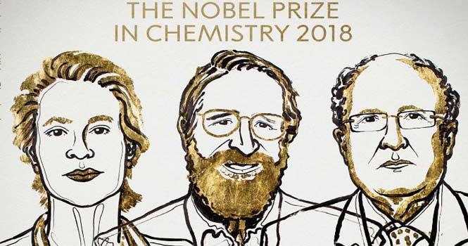 برندگان جایزه نوبل شیمی 2018 اعلام شدند