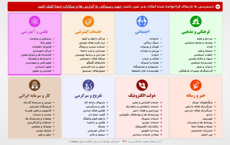 مجری فیلترینگ در ایران