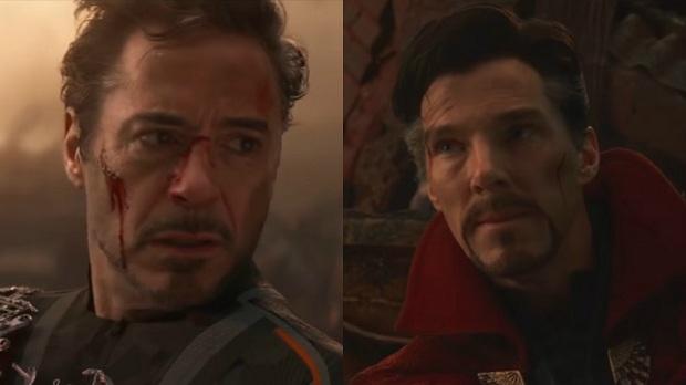 دکتر استرنج و مرد اهنین در فیلم اونجرز 4: پایان بازی
