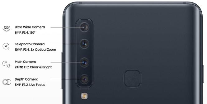 دوربین چهارگانه گلکسی A9