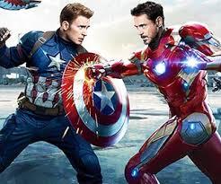 کاپیتان آمریکا و مرد آهنین در کنار یکدیگر در فیلم اونجرز 4: نابودی بازی می کنند