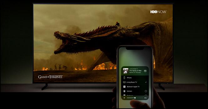 پشتیبانی از سرویسهای آی تیونز و ایرپلی 2 اپل در تلویزیونهای هوشمند سامسونگ