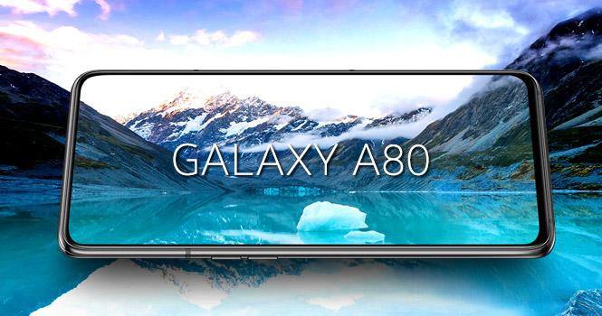 عرضه گوشی گلکسی A80 سامسونگ با دوربین 48 مگاپیکسلی سه گانه چرخشی