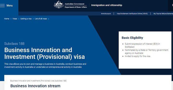 معرفی انواع SUBCLASS ویزاهای مهاجرتی استرالیا در سایت HOMEAFFAIRS