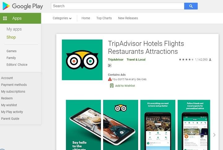 ۱۰۰ میلیون نصب فعال برای معروفترین اپ گردشگری مجازی جهان (tripadvisor) نشان میدهد که فیدبک کاربران درباره یک اپ و ثبت نظراتشان در داخل اپ، تا چه اندازه میتواند فرصت آفرین باشد. بیش از ۳۰۰ میلیون نظر در حوزه گردشگری در تریپ ادوایزر درج شده و قابل مشاهده است
