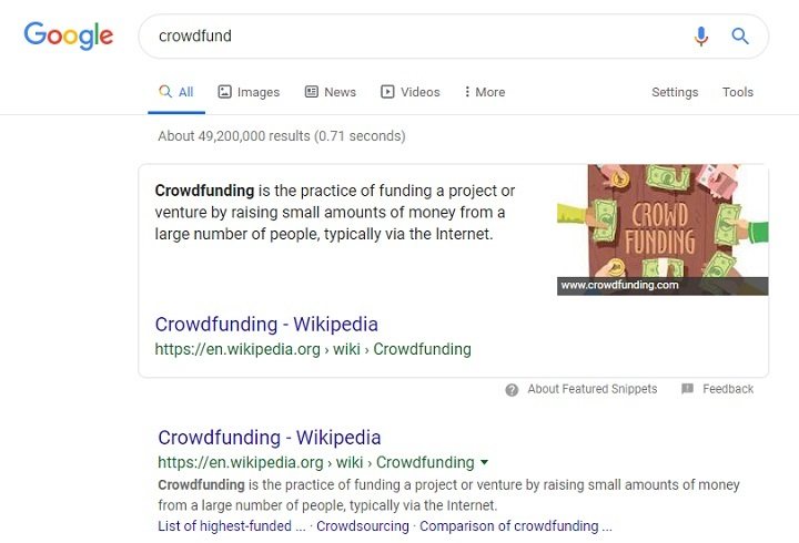 بیش از 49 میلیون صفحه ایندکس شده در گوگل درباره کرادفاند وجود دارد