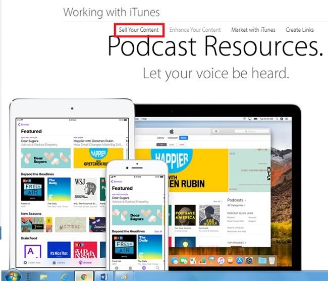 راه و رسم درآمدزایی با پادکست را در آیتونز اپل در بخش Sell Your Content بدست آورید که این موضوع میتواند برای فریلنسرها بسیار جذاب باشد