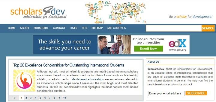 یکی از بهترین سایت ها برای آشنایی با فرصت های بورسیه تحصیلی در رشته های مختلف و بر اساس طبقه بندی کشور و دانشگاه در سراسر جهان