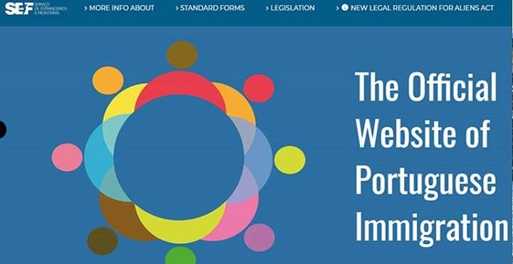 تصویر ایندکس سایت رسمی دولت پرتغال
