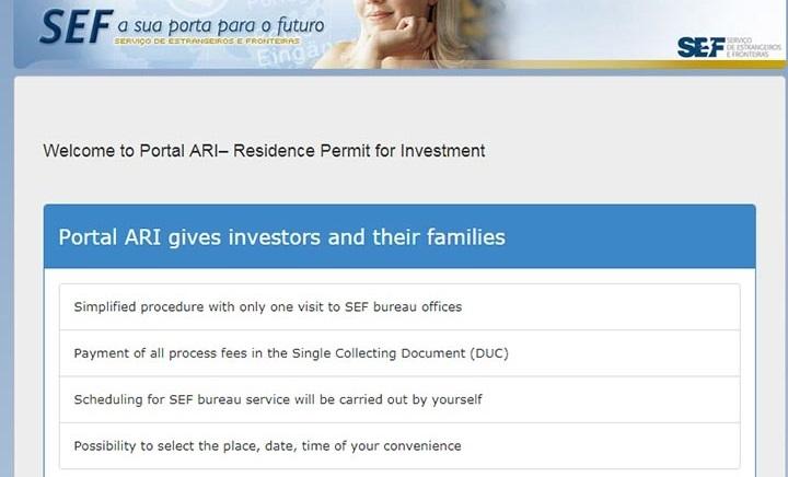 در واقع پرتال ARI که عکس صفحه اول آن را در تصویر فوق مشاهده میکنید، اطلاعات لازم به علاقمندان سرمایه گذاری در پرتغال را ارائه میکند.