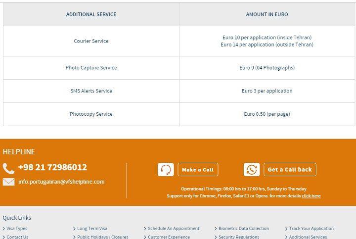 جدول هزینه دریافت خدمات اضافی در کارگزاری وی اف اس گلوبال