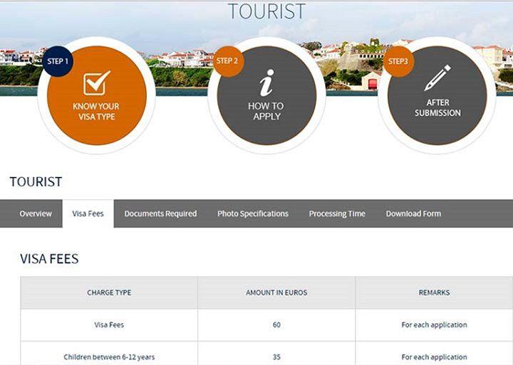 هزینه دریافت ویزا گردشگری پرتغال 60 یورو است که 27 دلار هزینه های وی اف اس هم به آن اضافه می شود