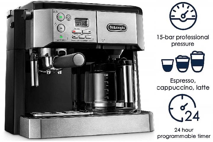 بهترین قهوه / اسپرسو ساز کمبو: دلونگی بی سی 0430 (DeLonghi BC0430)