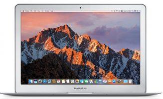 اپل مک بوک ایر (Apple MacBook Air): دارای نمایشگر 13.3 اینچی، پردازشگر اینتل Dual Core i7 و حافظه 128 گیگابایتی