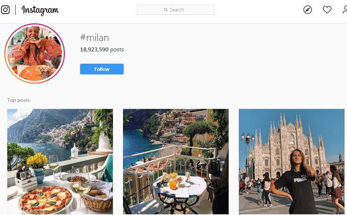 (تا مهر ۹۸، بیش از ۱۱۴ میلیون عکس از میلیون ها گردشگر شهرهای مختلف ایتالیا روی یکی از پربیننده ترین هشتگ های اینستاگرام به اشتراک گذاشته شده که راهنمای گردشگری مستند و مصور عالی برای ایتالیا گردهای ایران محسوب می شود)