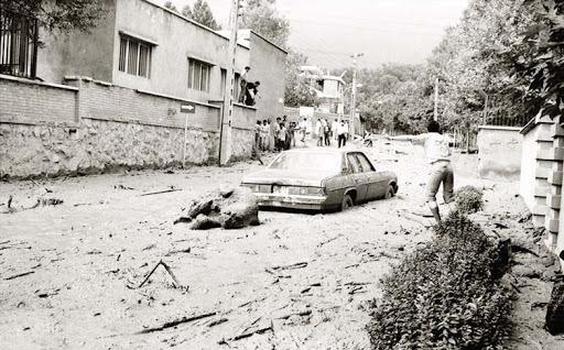 سیل میدان تجریش در سال 66
