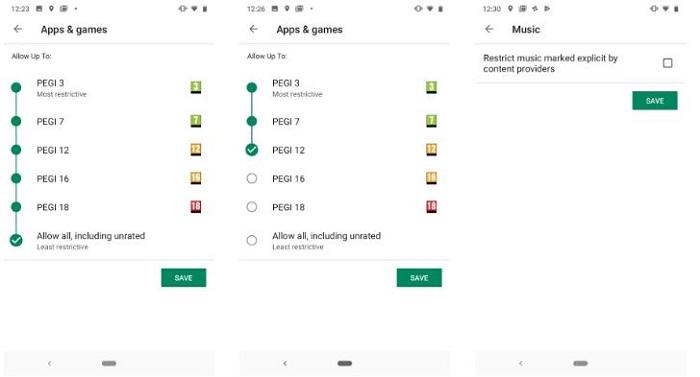 کنترل گوشی فرزندان در اندروید : محدود کردن محتویات گوگل پلی استور