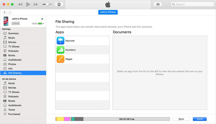 بررسی نرم افزارهای iOS یا iPadOS دارای توانایی اشتراک گذاری فایل با یک رایانه