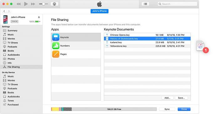 کپی کردن فایل از یک اپلیکیشن iOS یا iPadOS به رایانه