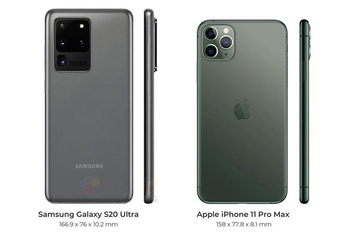 مقایسه گلکسی اس ۲۰ سامسونگ و آیفون ۱۱ اپل