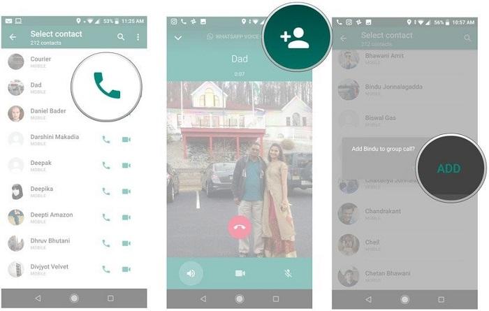 نحوه استفاده از ویژگی تماس گروهی در واتساپ