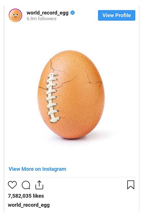 در آن زمان مشخص نبود که چه کسی یا شرکتی این کمپین را راه انداخته است. اما پست دیگری از این تخم مرغ در زمان سوپر بول منتشر شد که نشان میداد شرکت Hulu قصد داشته با این کار دربارهی سلامت روان اطلاع رسانی کند.