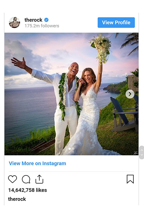 عروسی دواین جانسون