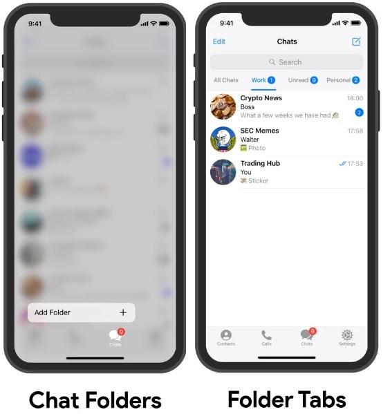 آموزش ساخت پوشه چت در تلگرام