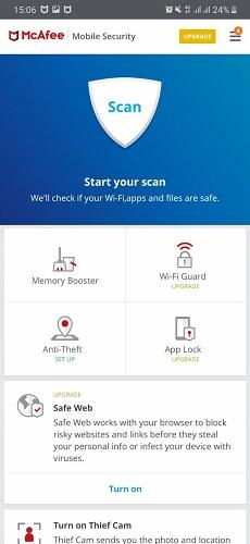 مکافی موبایل سکیوریتی (McAfee Mobile Security)