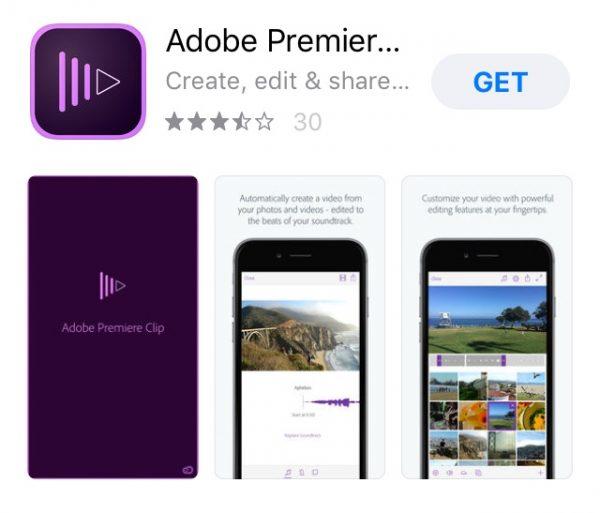 آدوب پریمیر کلیپ (Adobe Premiere Clip)