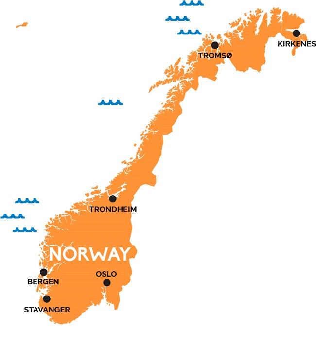 نقشه نروژ