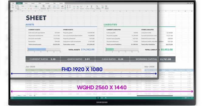 نمایشگر F27T85 سامسونگ ؛ قیمت و مشخصات فنی نمایشگر 27 اینچی WQHD