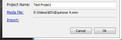 سپس برای باز کردن فایلی که قصد دارید برای آن زیرنویس بسازید، بر روی لینک Media File کلیک کنید.