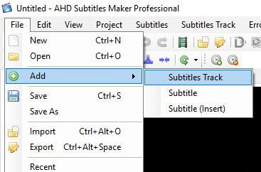 بار دیگر بر روی File کلیک کنید و از لیست باز شده ابتدا گزینهی Add و سپس گزینهی Subtitles Track را انتخاب کنید.