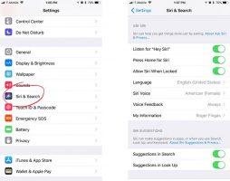 فعال سازی دستیار Siri در iOS 11 به بالا