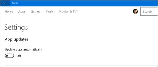 به روزرسانی خودکار نرم افزارها و Live Tile (کاشی زنده) را غیرفعال کنید